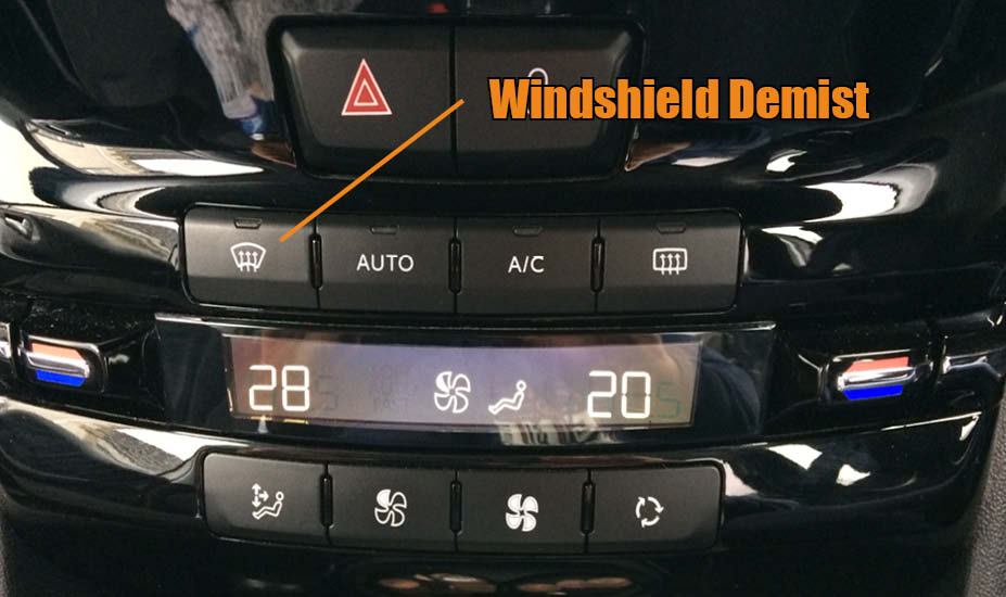 What is the heat button in a car